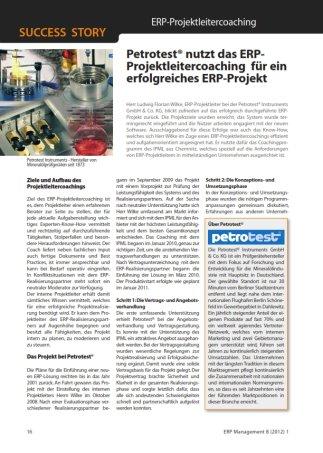 ERP Projektleitercoaching, ERP Projekt