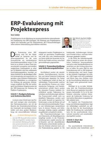 ERP Evaulierung, Geschäftsprozessoptimierung