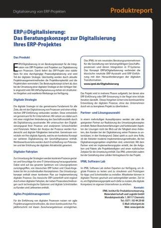 Digitalisierung, Prozessoptimierung, ERP Einführung